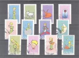 France Autoadhésifs Oblitérés (Série Complète : 75 Ans Le Petit Prince) (cachet Rond) - Used Stamps