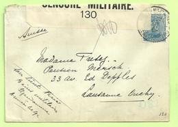 141 Op Brief Stempel PMB 26/6/16 Naar Lausanne (Suisse), Strook CENSURE MILITAIRE 130 (3536) - Esercito Belga