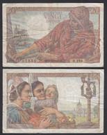 Frankreich - France - 20 Francs Banknote 14-10-1948 Pick 100c F (4)   (29173 - Unclassified