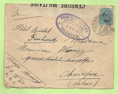 141 Op Brief Stempel PMB Naar (Suisse), CENSURE MILITAIRE 132, Stempel HOTEL / CHAMPEX (B9493) - Esercito Belga