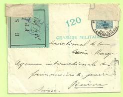 "141 Op Brief Stempel PMB Op 8/8/16 Naar ""CROIX-ROUGE / Prisonnier De Guerre"" Geneve (Suisse) Vignet E S FFB (3532) - Esercito Belga"