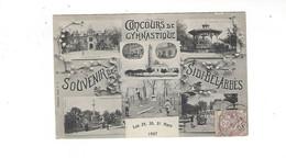ALGERIE  SIDI BEL ABBES  CONCOURS DE GYMNASTIQUE  1907 MULTIVUES      *****  RARE A  SAISIR **** - Sidi-bel-Abbes