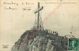 73.  Croix Du Nivolet .  CPA Animée . - Otros Municipios