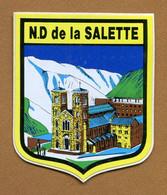 NOTRE-DAME DE LA SALETTE (38) : ECUSSON BLASON ADHESIF - Pegatinas