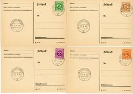 AUTRICHE SUR CPFM LETTRE 1945 RHEINAU HÖCHST X 4 AFFRANCHISSEMENTS DIFFERENTS - 1945-60 Used