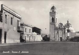 SENORBI-CARBONIA-SUD SARDEGNA-PIAZZA SAN ANTONIO-CARTOLINA VERA FOTOGRAFIA-VIAGGIATA NEL 1959 - Carbonia