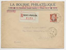 FRANCE PASTEUR  N° 248 SEUL LETTRE REC REIMS PRINCIPAL 27.4.1928 AU AU TARIF - 1922-26 Pasteur