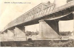 [33] Gironde > Lot De 2 CPA Cerons Porche De L'Eglise- Le Pont De Cadillac - Unclassified