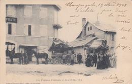 SAINT CERGUES (Suisse) Les Voitures Fédérales - Diligences 1901 - VD Vaud