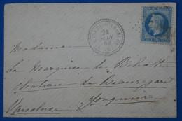 Z19  FRANCE BELLE LETTRE  1869  POUR JONQUIERE + CACHET PERLE+ AFFRANCH. INTERESSANT - 1863-1870 Napoléon III. Laure