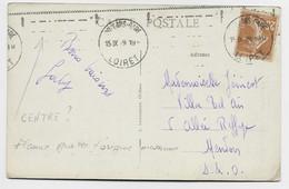 FRANCE N° 235 CARTE MEC KRAG GRATTEE ORLEANS GARE 15.IX.29 LOIRET - Mechanical Postmarks (Advertisement)