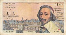 Frankreich 10 Nouveaux Francs 1960 Frankrijk Tien VG/G IV - 10 NF 1959-1963 ''Richelieu''