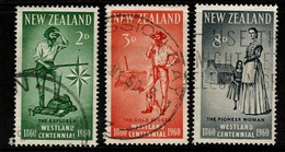 New Zealand SG 778-80 1955 Westland Province Centenary,used - Used Stamps