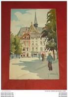BRUXELLES  -  Place Et Eglise Du Sablon  , Illustrateur Hebbelinck - - Squares