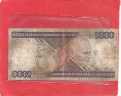 BANCO CENTRAL DO BRASIL . 5.000 CRUZEIROS   . N°  B  1962062099  A - Brésil