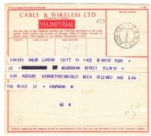 Israël -  Période Intérimaire - Télégramme De 1948 - Oblit Tel Aviv - Avec Nom De Rothschild  ! - Briefe U. Dokumente