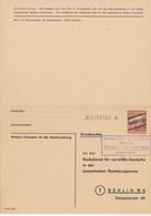SBZ   -  1946  ,  2 RM  Suchdienstkarte Als Formular  -  Michel SDP 1A - Sowjetische Zone (SBZ)
