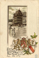 Carte Gauffrée Srassburg I E Bas Alte Haus + Blason - Straatsburg