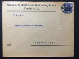 GERMANY Germania Cover Wunsiedel To Schwandorf - `Gruben-Zentralkontor` - Briefe U. Dokumente