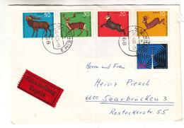 Allemagne - République Fédérale - Lettre Exprès De 1966 - Oblit Mannheim - Animaux - Cerfs - Radio - Covers & Documents