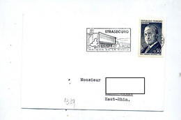 Lettre Flamme Strasbourg Maison De La Radio - Mechanical Postmarks (Advertisement)