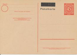 ALLIIERTE BESETZUNG  - 1946 ,  1. Kontrollratsausgabe ,  Gemeinschaftsausgabe - Michel P 955  Als Paketkarte - Gemeinschaftsausgaben