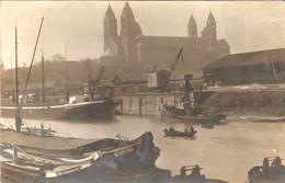 Postkarte From Speyer / Spire, Péniches Et Cathédrale Avant Guerre, Carte-photo Schmid, Written By French Soldier, 1919 - Speyer
