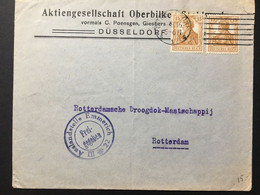 GERMANY Germania Cover 1916 Dusseldorf To Rotterdam With Auslandstelle Cachet - 30pf Rate - Lettres & Documents