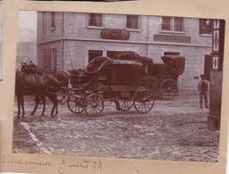 ANDERMATT SUISSE Malle Poste Juillet 1899 Photo Amateur Format Environ 4,5 Cm X 10 Cm - Plaatsen