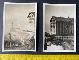 Brand Im Hotel Rigi Kaltbad Luzern/ 2 Photos/ Ca. 1936 - Luoghi