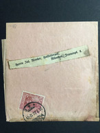 GERMANY Germania 1920 Newspaper Wrapper Apolda To Munchen - 75 Pf Rate - Lettres & Documents