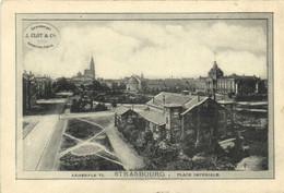 STRASSBOURG  Place Imperiale RV Menu Strassburger Conserven Fabrik  J Clot & Cie - Strasbourg