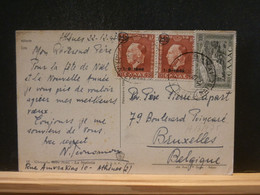 A13/775 CP GREECE  1947 POUR LA BELG. - Covers & Documents