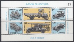 SCHWEDEN  Block 8, Postfrisch **,  Geschichte Des Schwedischen Automobilbaus 1980 - Hojas Bloque