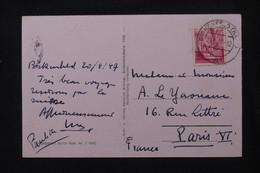 ALLEMAGNE - Affranchissement Occupation Française De Birkenfeld Sur Carte Postale En 1947 Pour Paris  - L 104717 - French Zone