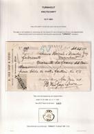 DDAA 172 - Reçu TP Fine Barbe De BORGERHOUT 1901 - Non Annulé Au Départ , Griffe TURNHOUT à L'arrivée - 1893-1900 Barbas Cortas