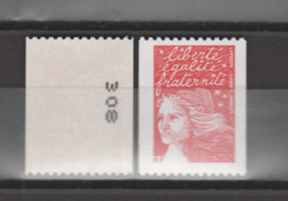 """FRANCE / 2001 / Y&T N° 3418b ** : Luquet """"RF"""" TVP LP Roulette (n° Noir à Gauche) X 1 - Unused Stamps"""