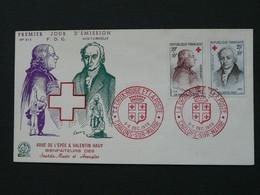 FDC De L'Epée Valentin Hauy Croix Rouge 1959 Red Cross 51 Chalons Sur Marne Ref 361 - Croix-Rouge