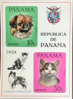 Panama 1967 Cats & Dogs Animals Minisheet MNH - Unclassified