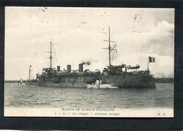 """CPA - MARINE DE GUERRE FRANCAISE - Le """"DU CHAYLA"""", Croiseur Protégé - Guerra"""