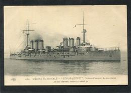 """CPA - MARINE NATIONALE - """"EDGAR QUINET"""", Croiseur Cuirassé - Guerra"""