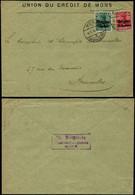 DEL111 Lettre En-tête Banque Union Du Crédit  De Mons à Bruxelles 1916 - Andere Brieven