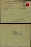 DEL116 Lettre Censurée De Mons  à Bruxelles 1915 - Andere Brieven