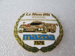 TOP  RARE   PIN'S    MAZDA   787 B  WINNERS  24 HEURES DU MANS  1991   J HERBERT  B GACHOT  V  WEIDLER  Email Grand Feu - Rallye