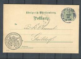 """Wuerttemberg / 1906 / Dienstpostkarte Mit Zudruck """"Versicherungsanstalt Wuerttemberg"""" Gestempelt (2929) - Wurtemberg"""