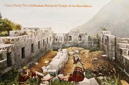 Cartolina - Perù - Cuzco - Piso E Intihuatana Ruinas Del Templo - 1910 Ca. - Zonder Classificatie