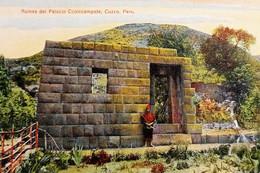 Cartolina - Perù - Cuzco - Ruinas Del Palacio Ccolccampate - 1920 Ca. - Zonder Classificatie