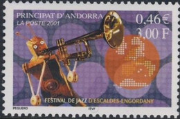 "Andorra FR, 2001, Mi 571, Jazz Festival ""Escaldes-Engordany"", 1v, MNH - Musique"