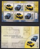 Lithuania 2013 Europa. Postman Van. Mi 1131-32 Booklet - 2013