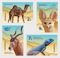Romania Rumänien Delivery Within 4 Weeks MNH ** Ru 2021 204 Desert Fauna - Set - Nuevos